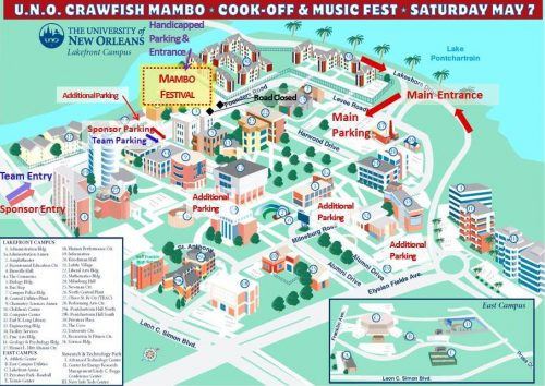 map of university of new orleans University Of New Orleans To Host 6th Annual Crawfish Mambo Cook map of university of new orleans